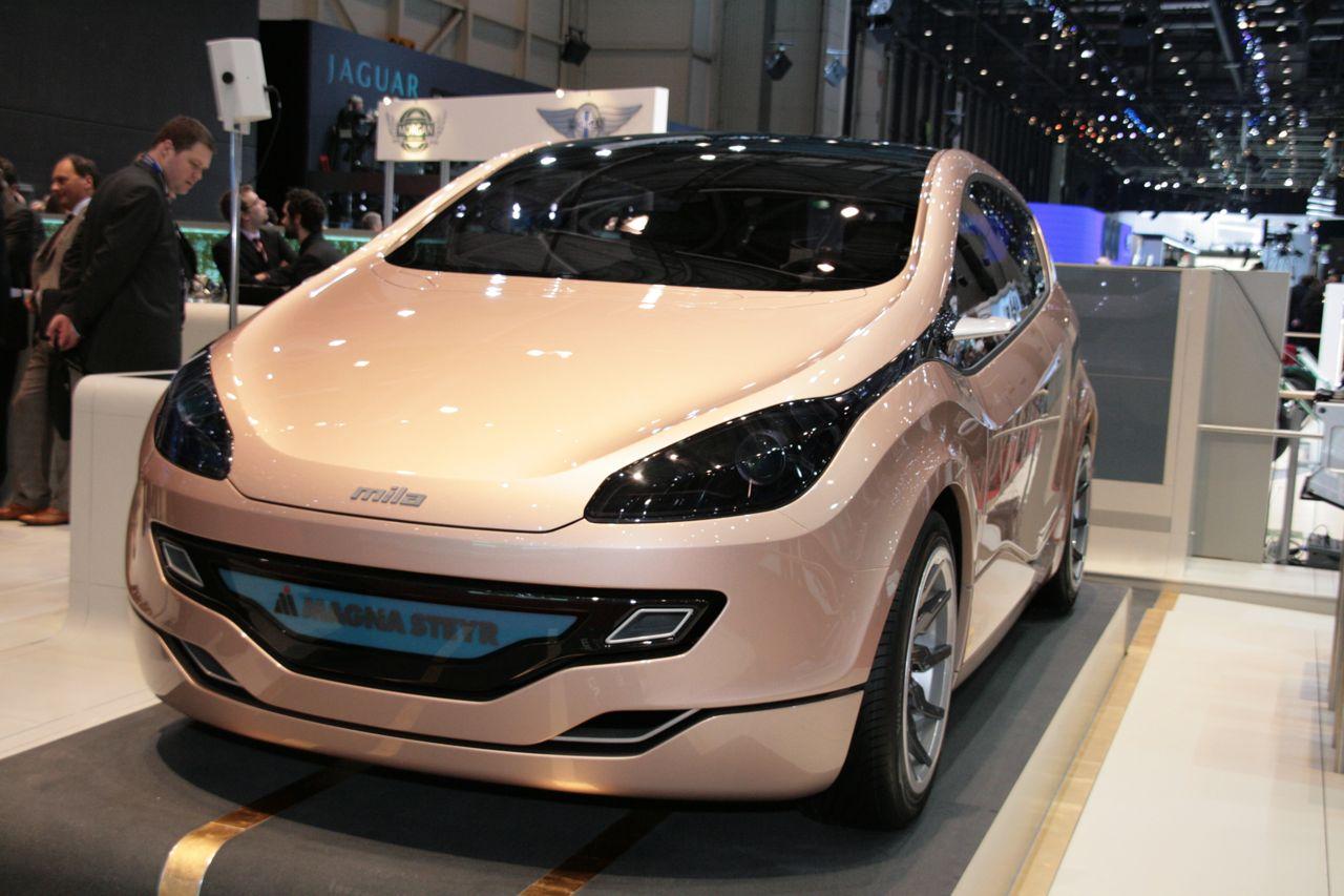 Carro el ctrico magna steyr mila ev pueden desarrollar for Magna motors mazda volvo evansville in