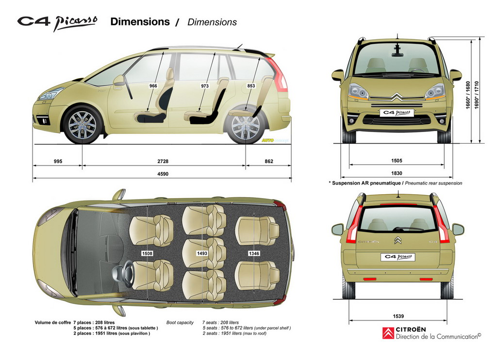 citroen c4 picasso 2010 lista de carros. Black Bedroom Furniture Sets. Home Design Ideas