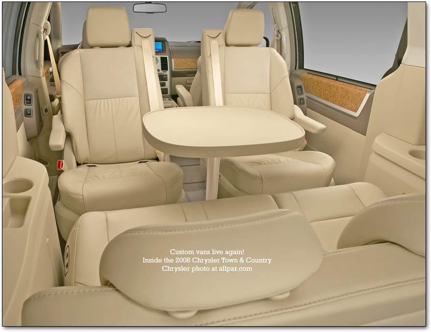 Interior De La Versi 243 N De Lujo Del Chrysler Town Amp Country