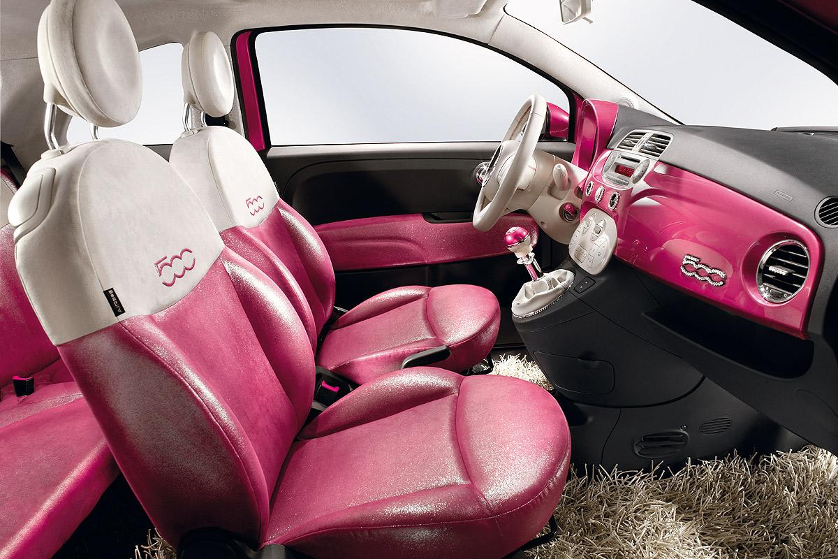 Interior Del Fiat 500 Pink Lista De Carros