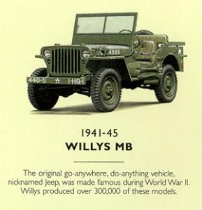 El primer carro de Jeep fue el Willis de 1941