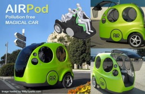 AirPod, un carro que circula con aire comprimido