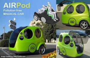 AirPod, un carro que circula con aire comprimido
