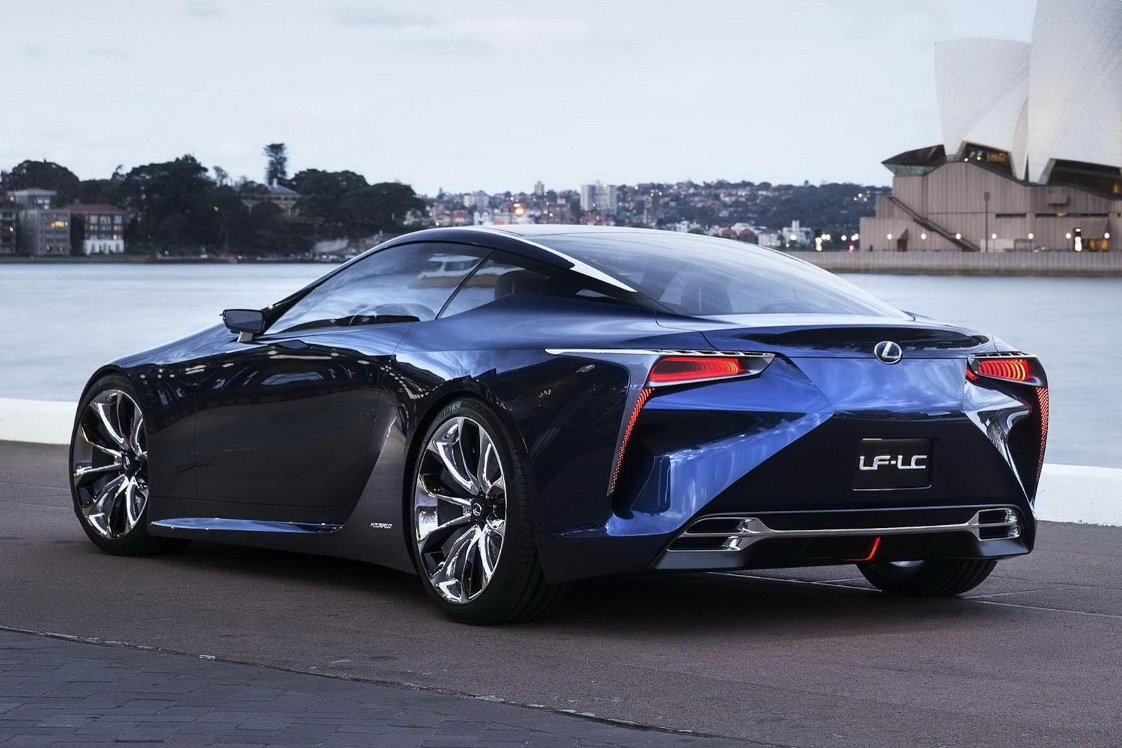 Lexus LF-LC Blue Concept: Cuenta con un motor de combustión rotativo ...