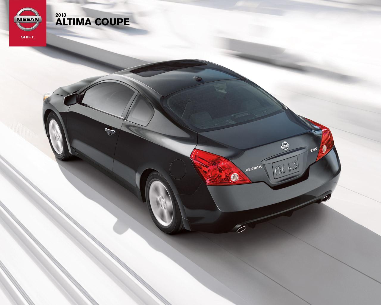 nissan altima coupe 2013. el nissan altima coupe es un carro de dos puertas y capacidad para cuatro ocupantes cual se destaca por contar con una carrocera diseada 2013 a