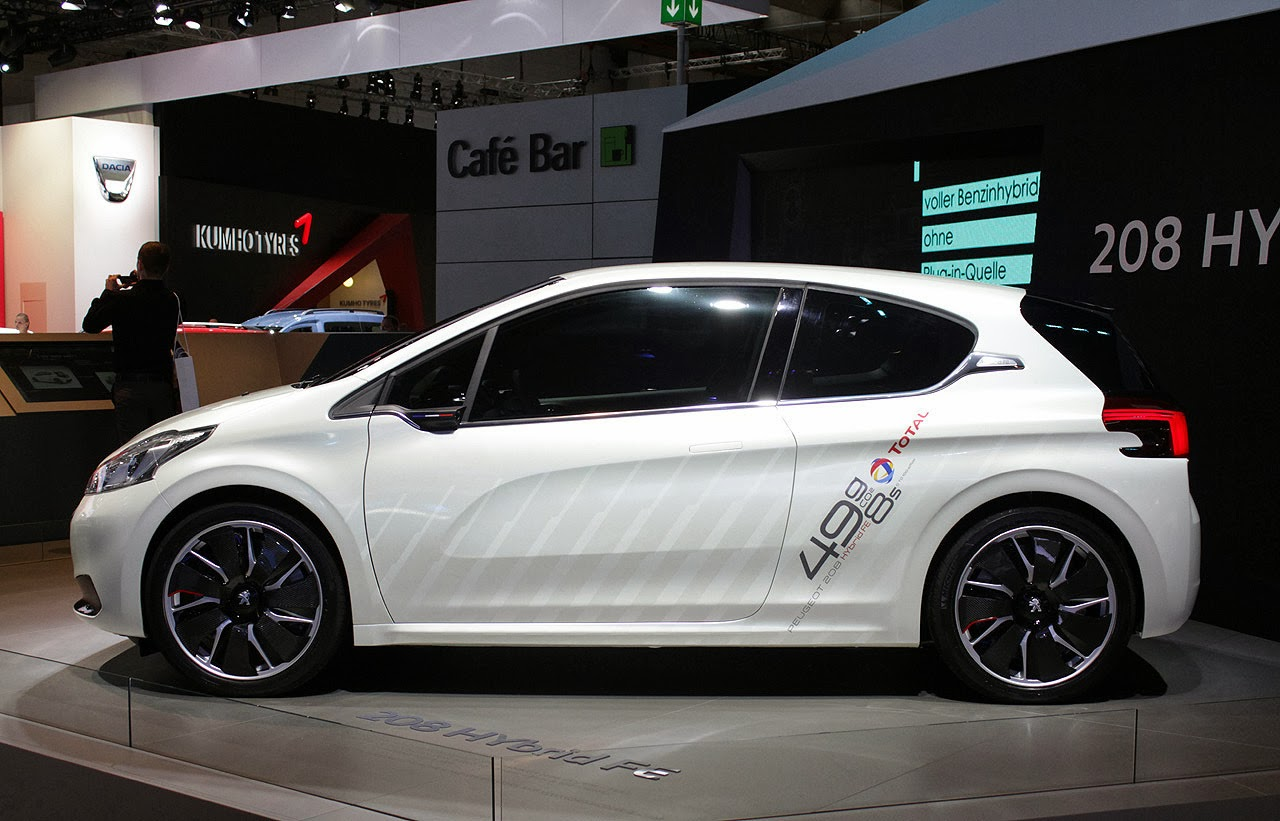 peugeot 208 hybrid fe concept lista de carros. Black Bedroom Furniture Sets. Home Design Ideas