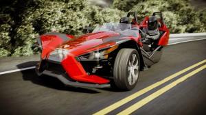 Polaris Slingshot 2015, un exótico y atractivo carro de tres ruedas.