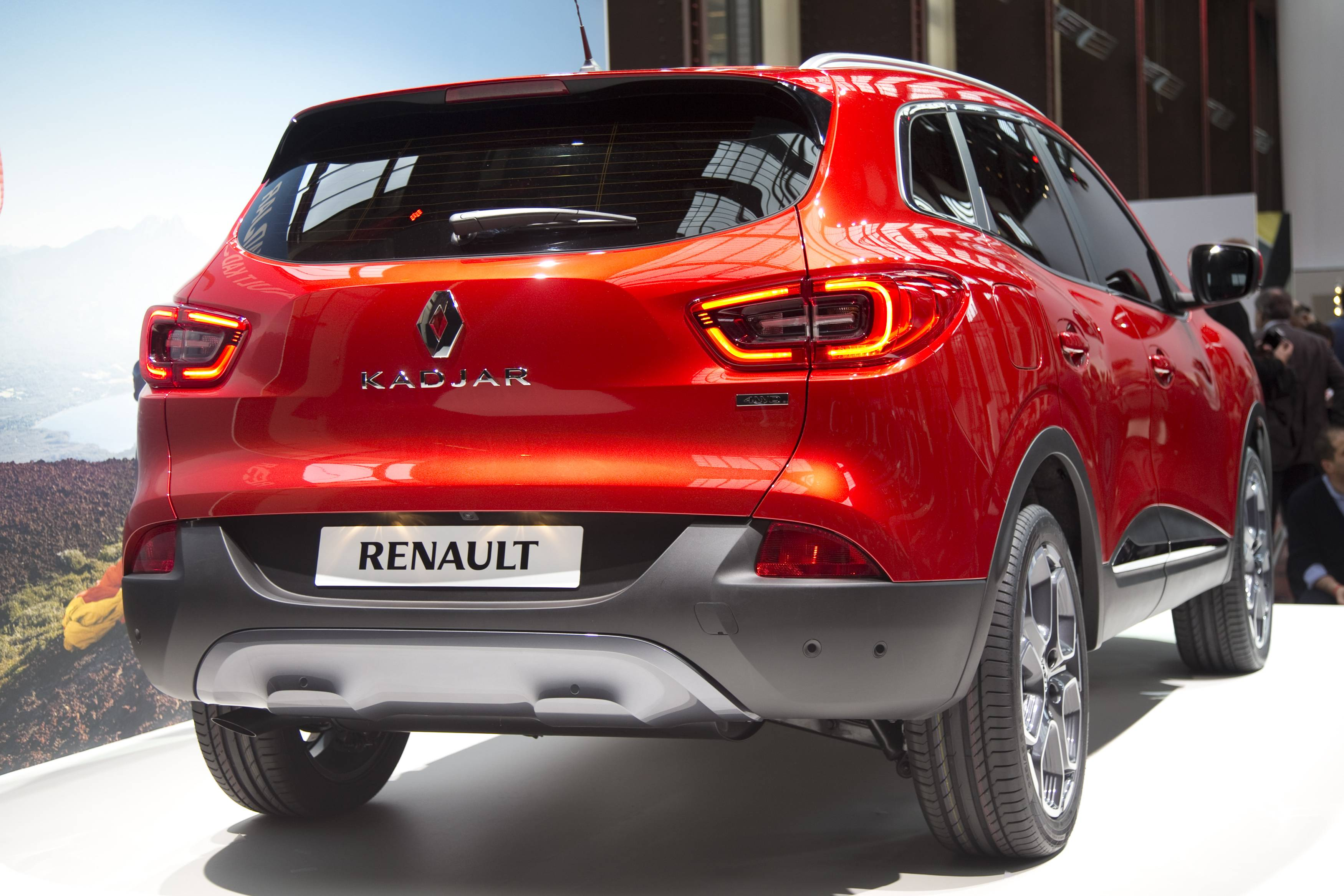 A Renault Kadjar, a new crossover SUV, is seen during a presentation in Saint-Denis near Paris ...
