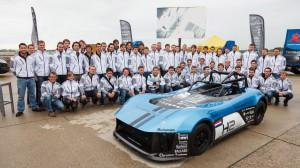 Forze VI, el primer carro de hidrógenos hecho por estudiantes.