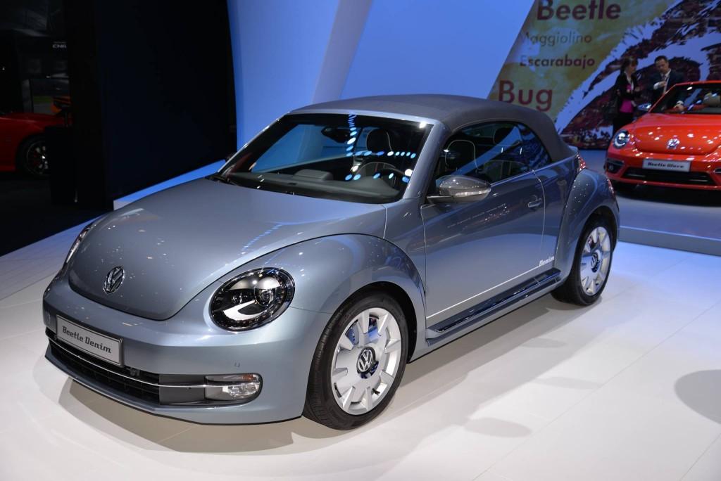 auto show de los angeles  volkswagen beetle denim  solo  unidades  recordar
