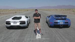Bugatti Veyron Vs Lamborghini ¿Quién ganará? (video)