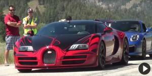 Un Bugatti Veyron vuela en una vía pública a 370 km/h (Video).