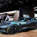 GENEVA, SWITZERLAND - MARCH 01:  The Chevrolet Corvette Grand Sport is displayed during the Geneva Motor Show 2016 on March 1, 2016 in Geneva, Switzerland.  (Photo by Harold Cunningham/Getty Images)