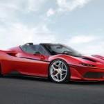 Ferrari J50 2017: La italiana Ferrari ha vuelto a sorprender de nuevo al mundo con el lanzamiento de uno de esos autos que el solo sabe fabricar. Se trata del J50 un biplaza tipo targa (con un techo de carbono extraíble manualmente que se guarda tras los asientos) que nace para darle un merecido homenaje a los 50 años de su presencia en Japón (de ahí su nombre J50). Lamentablemente de este superdeportivo sólo se fabricarán 50 exclusivas unidades para todo el mundo.  El J50 se basa en el Ferrari 488 Spider. Su precio no ha sido confirmado.