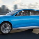 Audi Q8 Concept: El propulsor híbrido va asociado a un cambio automático Tiptronic de 8 relaciones y una tracción integral permanente con un emulador de 'Torque Vectoring': frena la rueda interior a la curva, pero no envía el par sobrante a la rueda con más adherencia. Tendrá una aceleración de 0 a 00 km/h en 5,4 segundos y una velocidad máxima de 250 km/h