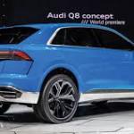 Audi Q8 Concept: Ofrecerá una autonomía de 60 km en modo eléctrico (batería de iones de litio de 17,9 kWh y recargable en 2 horas 30 en una toma de 7,2 kW), mientras que combinando motor gasolina y propulsión eléctrica sería de hasta 1.000 km.