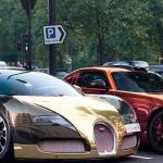 Bugatti en oro