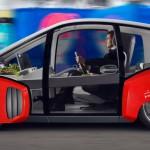 Rinspeed Oasis Concept: Tiene una distancia entre ejes de 2,360 metros y tiene un peso de sólo 1.100 kilos. Vendrá acompañado por un salpicadero y diseño interior formado por dos pantallas situadas en los parasoles y una táctil entre los dos asientos. El Oasis refleja lo que será el futuro de la movilidad mundial.