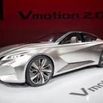 Nissan Vmotion 2.0 Concept: Es un sedán inteligente que deja ver cómo será el próximo Máxima, además de los rasgos que adoptarán los modelos venideros como, por ejemplo, la evolución de la parrilla 'V-motion'.