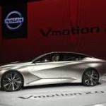 Nissan Vmotion 2.0 Concept: Este estudio de diseño muestra la evolución del lenguaje 'V-motion', adoptados por todos los vehículos de la gama, desde el urbano Nissan Micra 2016 hasta el enorme Murano. Ahora, esa 'V' tan famosa y que ha originado tan buenas críticas está formada, con una forma tridimensional, por la propia carrocería.