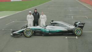 Este es el Mercedes W08, el monoplaza para la F1 2017.