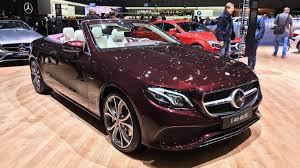 Salón de Ginebra 2017: Mercedes-Benz Clase E Cabriolet 2018, elegancia y exclusividad.