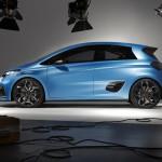 Renault Zoe e-Sport Concept: En su interior este prototipo incorpora dos asientos competición firmados por Recaro, mientras que el tablero y cuadro de instrumentos es sumamente futurista.