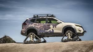 Salón del Automóvil de Nueva York 2017: Nissan Rogue Trail Warrior Project, una X-Trail con orugas.