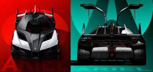 Ariel Hipercar, un auto eléctrico con casi 1,200 caballos de fuerza.