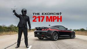 Hennessey Camaro ZL1 The Exorcist  !!El Exorcista logra 349 kph !! (con video)