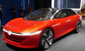 Salón de Ginebra 2018: Volkswagen ID Vizzion Concept, un auto autónomo que mira al Tesla Model S.
