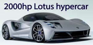 Lotus Evija 2020, un superdeportivo eléctrico con casi 2,000 CV.