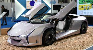 Nano Cellulose Vehicle Concept, un auto ultra-ligero construido con fibra de madera