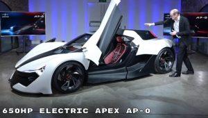 APEX AP-0: Un deportivo eléctrico inspirado en las carreras
