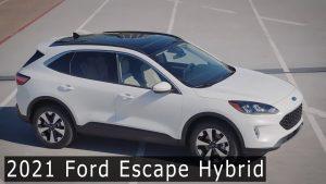 Ford Escape Hybrid 2021: Una autonomía de 1200 kilómetros.