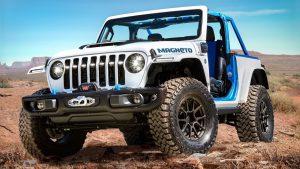 Jeep Wrangler Magneto Concept: Un todoterreno eléctrico con caja manual