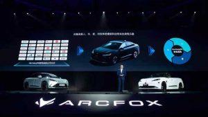 Salón de Shanghai 2021: Arcfox Alpha S, el primer carro eléctrico de Huawei.