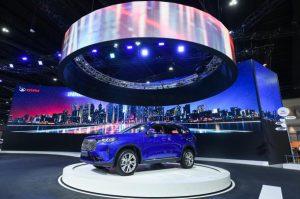 La Haval H6 Hybrid es develada en el Salón de Shanghái 2021.