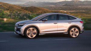 Audi Q4 e-Tron Sportback 2022: Una hermosa y eficiente SUV Coupé