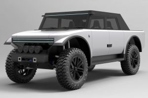 Fering Pioneer: Un híbrido 4x4, con 7.000 km de autonomía y carrocería de tela